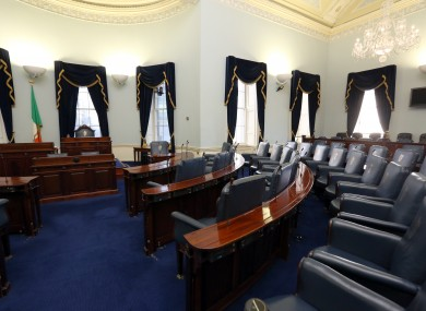 Inside the Seanad chamber.