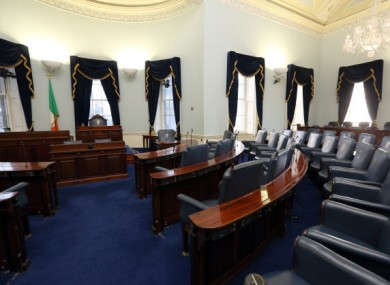 File photo of the Seanad chamber.