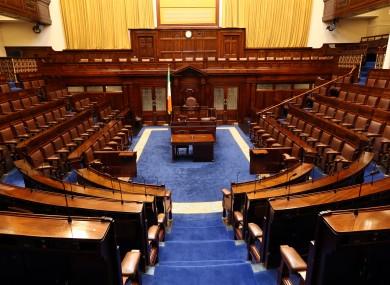 Inside the Dáil chamber