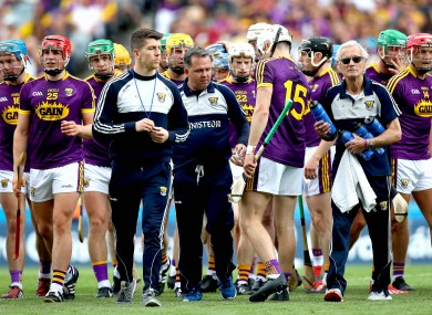 Davy Fitzgerald with his Wexford players