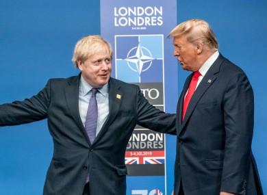 Boris Johnson meets US President Donald Trump last year