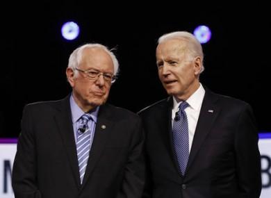 Joe Biden is still chasing Bernie Sanders in the race to be the Democratic nominee.
