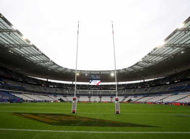 Ireland are due to place France at the Stade de France.