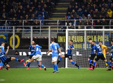 Only one goal in tonight's Coppa Italia semi-final.