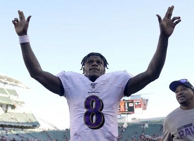 Ravens quarterback Lamar Jackson.