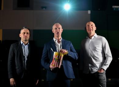 Alan Brogan, David Brady and Kieran Donaghy at the launch of the 18th Laochra Gael series.