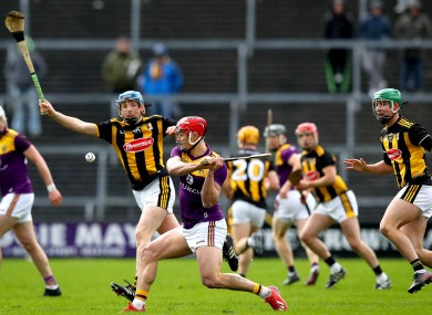 Lee Chin on the ball for Wexford.