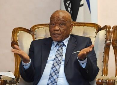 Lesotho PM Thomas Motsoahae Thabane.