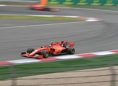 Charles Leclerc competes in last year's Chinese Grand Prix.