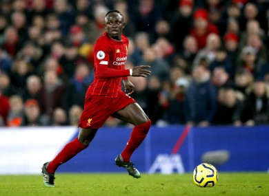 Sadio Mane is back in contention.