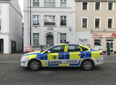 Gardaí on patrol in Longford town.