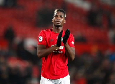 Manchester United's Paul Pogba (file pic).