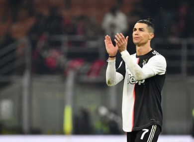 Cristiano Ronaldo (Juventus F.C.) pictured after the game.