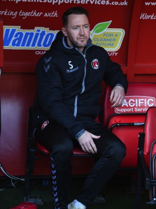 Aiden McGeady on the Charlton Athletic bench before Saturday's game against Barnsley.