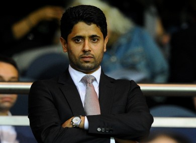 File photo dated August 06, 2011 of PSG's President of the Council Nasser Al-Khelaifi.