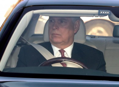 File photo. Andrew driving his Bentley into Buckingham Palace.