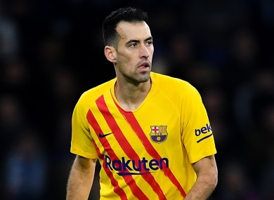 Sergio Busquets pictured during the game.