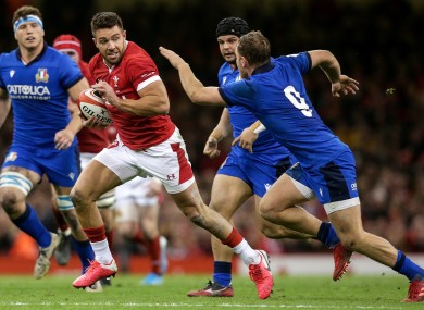 Rhys Webb in action for Wales last Saturday.