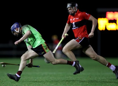 Darragh Fitzgibbon in action for UCC last night.