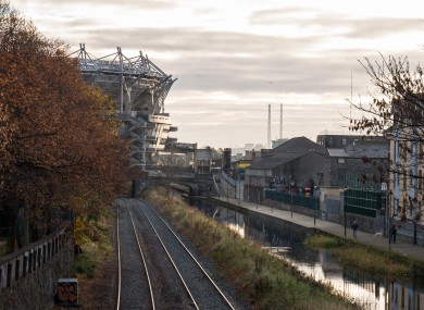 File photo. Exterior of Croke Park on the left.