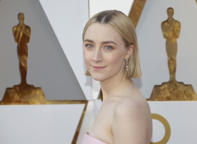 Saoirse Ronan on the red carpet in 2018.