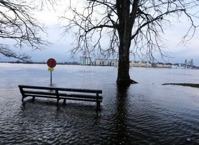 Extensive flooding along the River Shannon earlier this week.