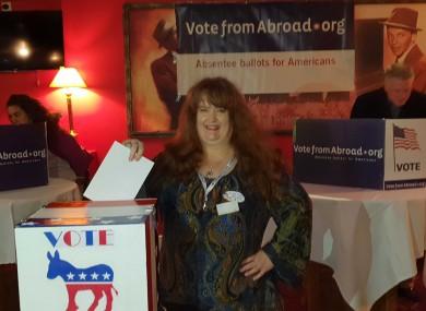 Democrat voter in Dublin Daria Marie Walsh.
