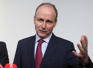 Micheál Martin speaking to the press about government talks earlier this week.