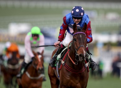Aidan Coleman onboard Paisley Park during last year's Stayers' Hurdle.
