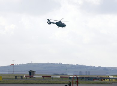 Defence Forces Air Corps helicopters at the Casement Aerodrome in Baldonnel, Dublin.