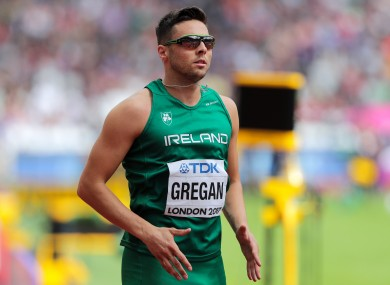 Brian Gregan pictured competing at the World Athletics Championships in 2017.