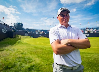 James Sugrue poses at the Open in Royal Portrush last year.