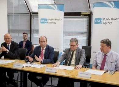 A briefing by health chiefs in Northern Ireland earlier this month.