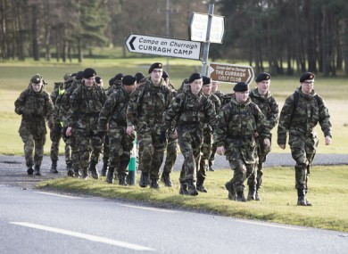 Army soldiers on training exercises in the Curragh. (File photo)