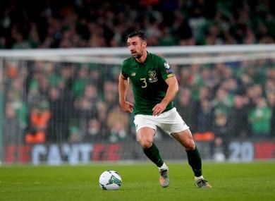 Enda Stevens earned his 14th senior cap for Ireland in last November's Euro 2020 qualifier against Denmark.