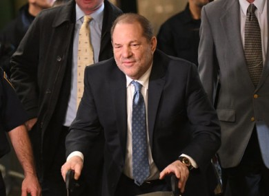 Harvey Weinstein entering the State Supreme Court in New York last month.