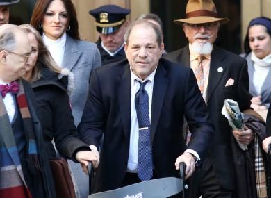 Convicted rapist Harvey Weinstein.
