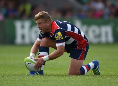 File photo: Madigan lines up a kick for Bristol.