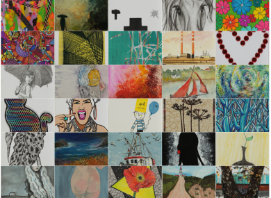 A selection of some of the artwork that will go on sale.