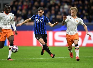 Atalanta took on Valencia at the San Siro in February.