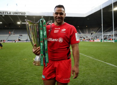 Billy Vunipola after Saracens' victory in the 2019 Champions Cup final.