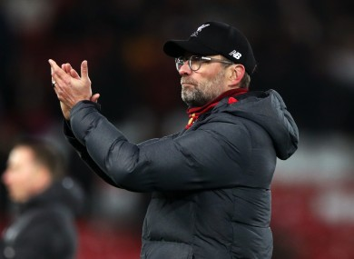 Liverpool manager Jurgen Klopp (file pic).