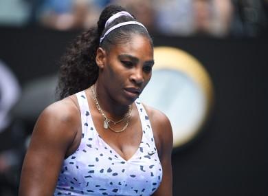 Serena Williams said that social distancing because of coronavirus had left her feeling