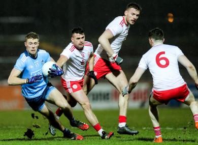 Dublin's Paul Mannion on the ball for Dublin against Tyrone.