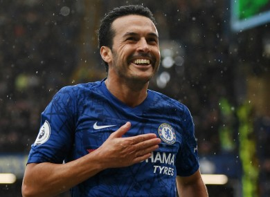 Chelsea winger Pedro (file pic).