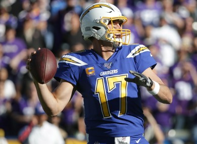 Philip Rivers in his time with the Los Angeles Chargers.