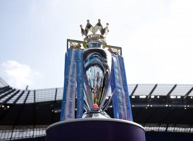The Premier League trophy.