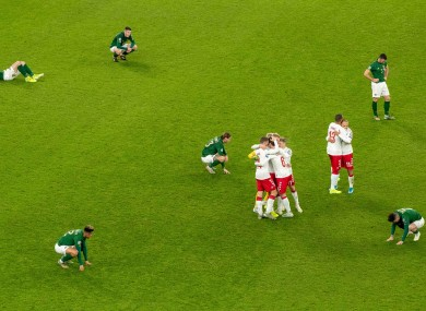 Ireland lose out on automatic qualification to Denmark. They are now in a play-off.