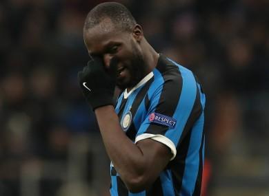 Inter striker Romelu Lukaku.