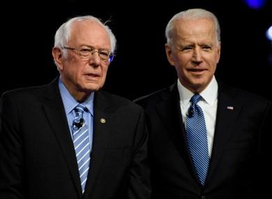 Sanders (l) and Biden (r)